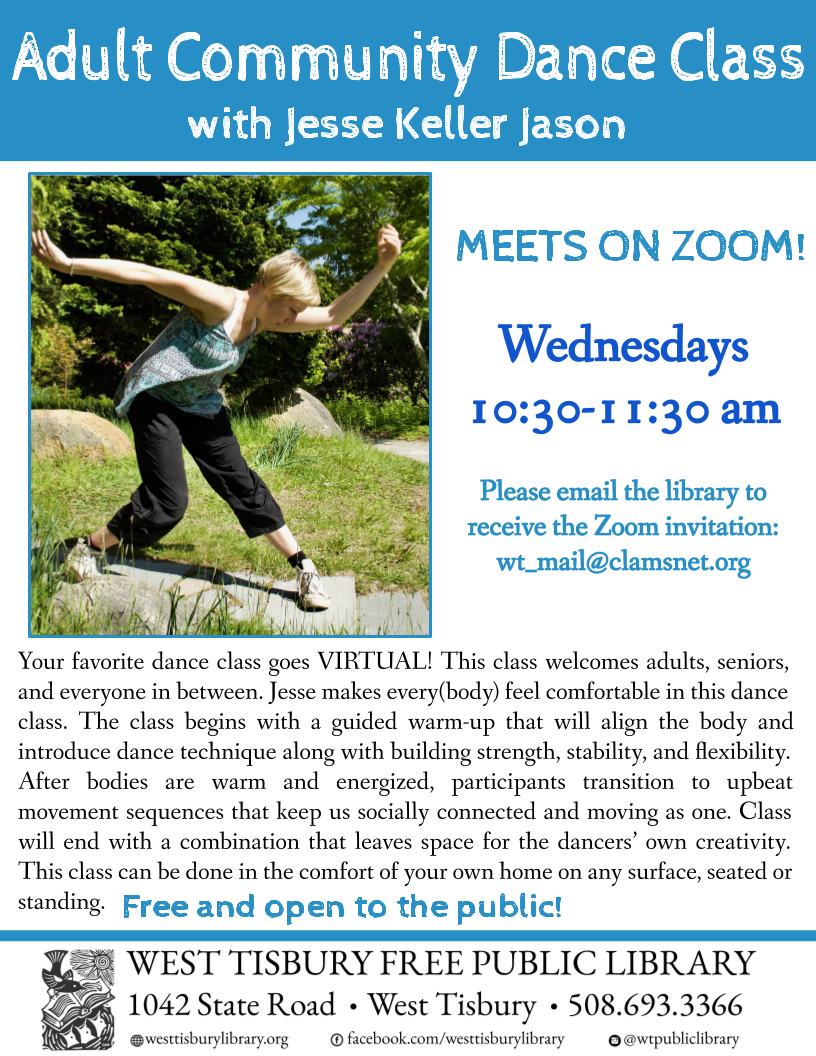 Online Adult Community Dance Class with Jesse Keller Jason