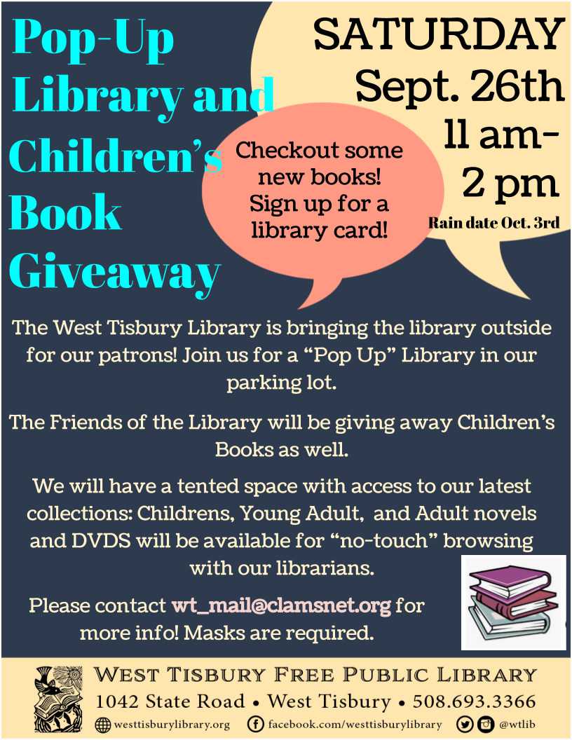 Pop Up Library and Children's Book Giveaway!