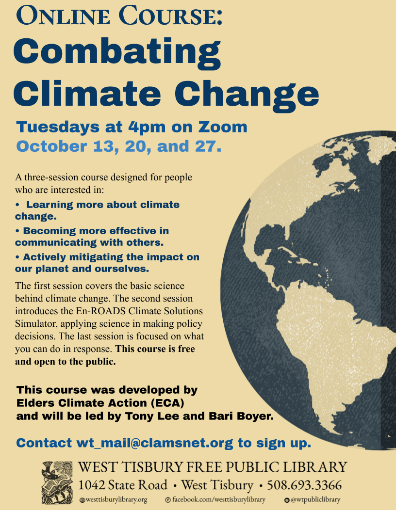 CLASS FULL! Online Course: Combating Climate Change