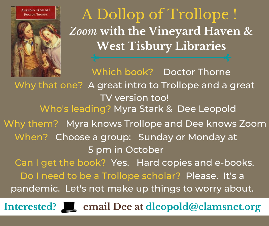 Online Book Group: A Dollop of Trollope!