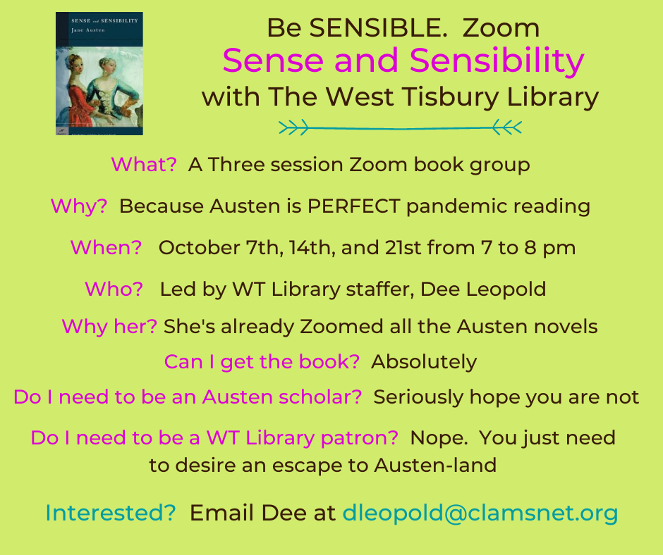 Online Book Group: Sense and Sensibility