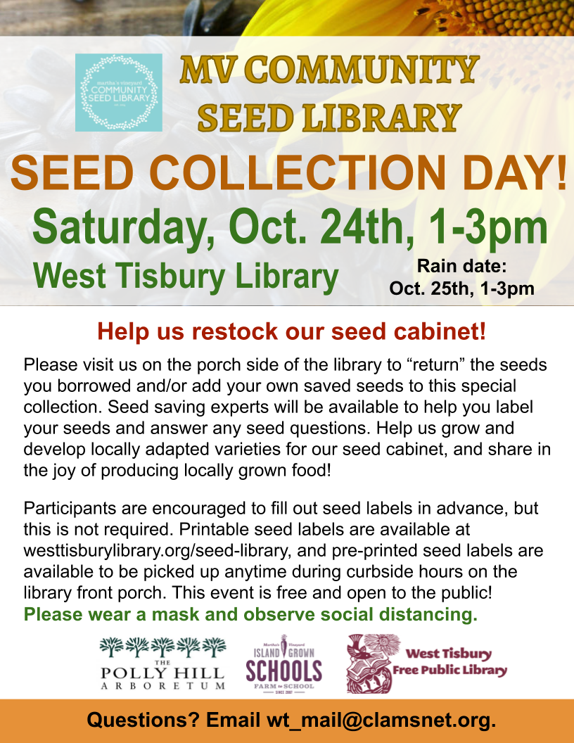 MV Community Seed Library's Seed Collection Day