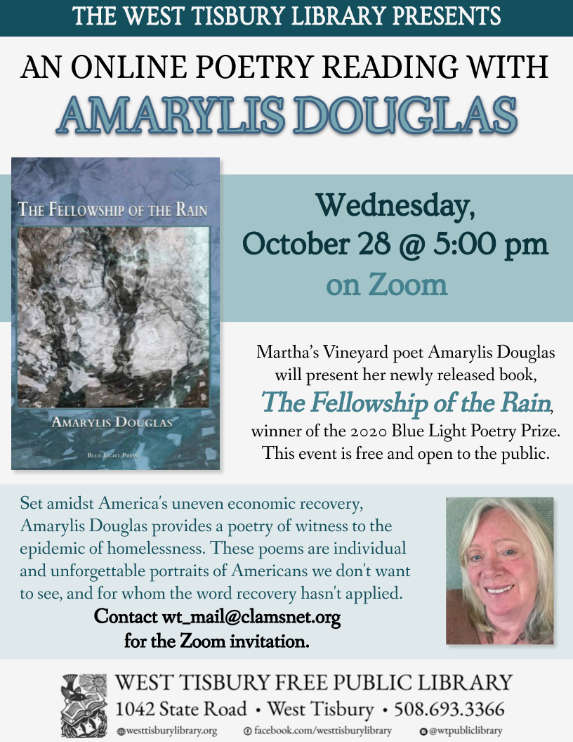 Online Poetry Reading with Amarylis Douglas