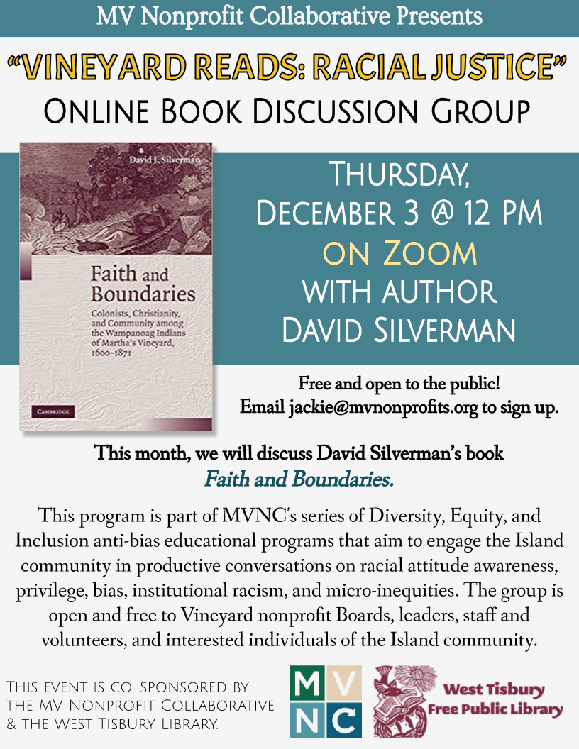 MVNC's Online Racial Justice Book Group