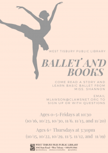Virtual Ballet and Books (6+)