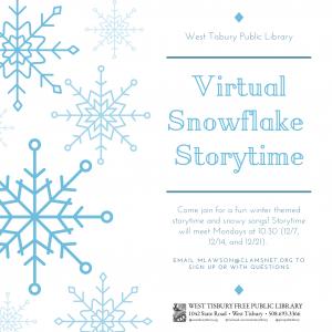Virtual Snowflake Storytime