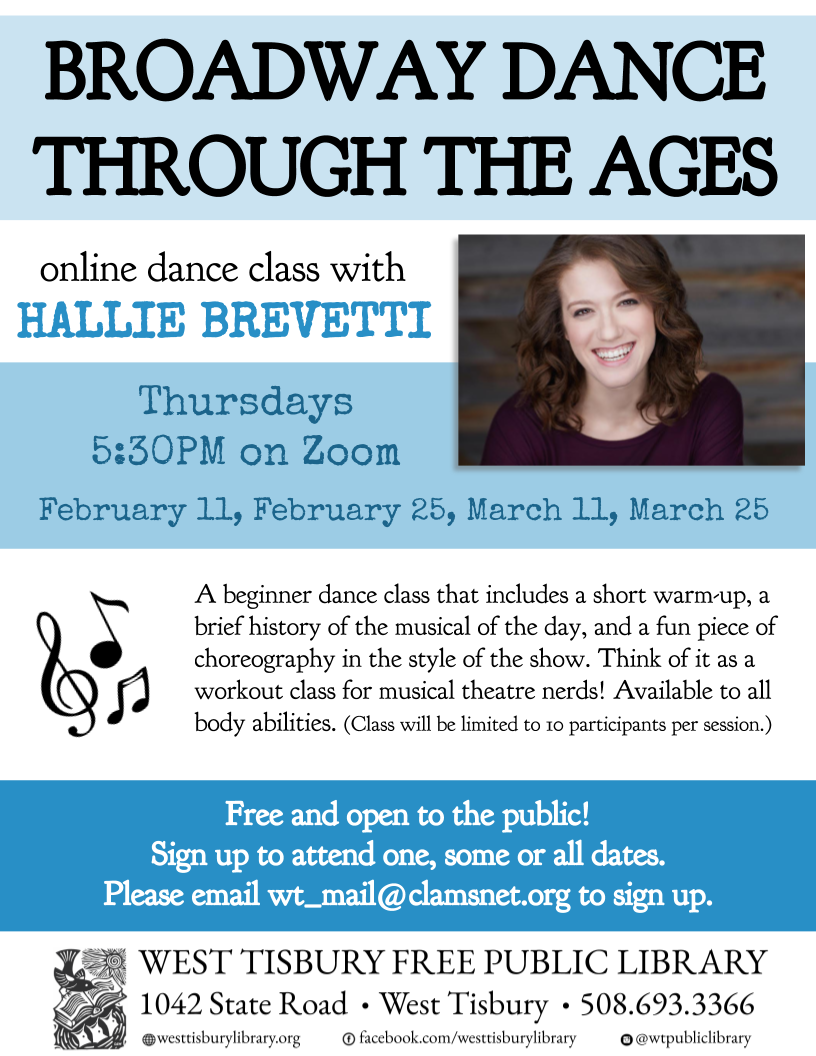 "Online Dance Class: ""Broadway Dance Through the Ages"""