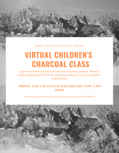 Virtual Children's Charcoal Class with Val Estabrook