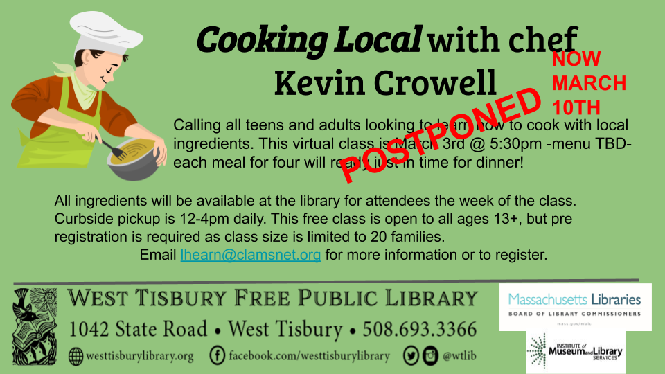 "Final class of ""Cooking Local"" with Kevin Crowell"