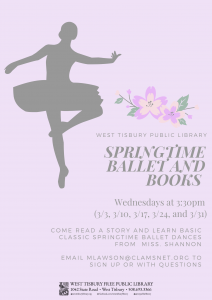 Virtual Springtime Ballet and Books