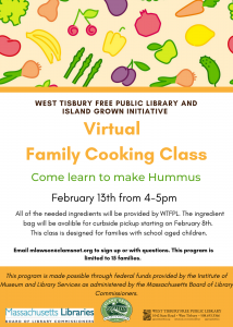 Virtual Family Cooking Class