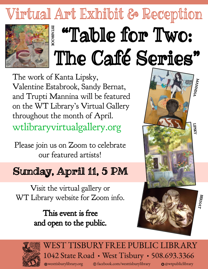 "Online Art Reception ""Table for Two – The Café Series"""