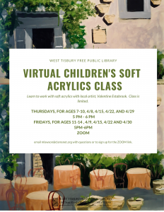 Virtual Children's Soft Acrylic Class